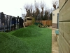 school garden and landscaping with artificial grass
