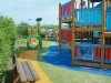 playground design with artificial grass