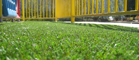 artificial grass playground surface